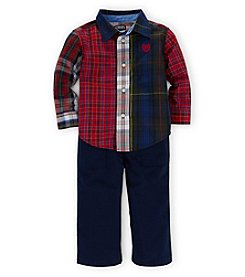 Chaps Baby Boys' 12-24 Month Woven Shirt Set