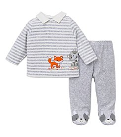 Little Me® Baby Boys' 3-9M Fox and Raccoon Footie Set