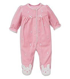 Little Me® Baby Girls' 3-9M Bunny Velour Footie