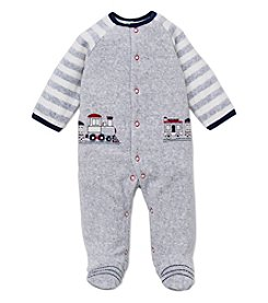 Little Me® Baby Boys' 3-9M Velour Train Footie