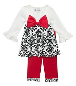 Rare Editions® Baby Girls' 12-24M Bow Accented Legging Dress Set