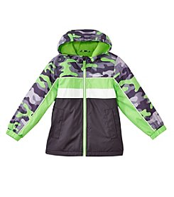 London Fog® Boys' 2T-16 Camo Color Block Jacket