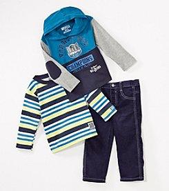 Nannette® Boys' 2T-4T Varsity Cord Pant Set
