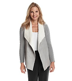 Alfred Dunner® Alpine Lodge Open Front Cable Jacket