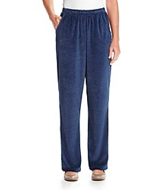 Alfred Dunner® Cape Hatteras Velour Regular Pants