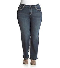 Earl Jean® Plus Size Patch Pocket V-Trim Jeans