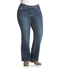 Earl Jean® Plus Size Bling Flap Pocket Jean