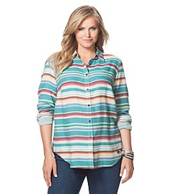 Chaps® Plus Size Striped Southwestern Shirt