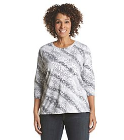 Studio Works® Plus Size Cheetah Print Crew Neck Tee