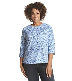 Studio Works® Plus Size Splotch Print Crew Neck Tee