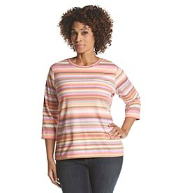Studio Works® Plus Size Float Print Crew Neck Tee