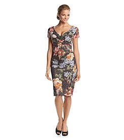 Adrianna Papell® Floral Wrap Dress