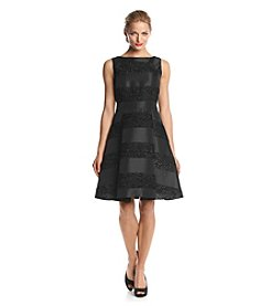 Taylor Dresses Stripped Taffeta Dress