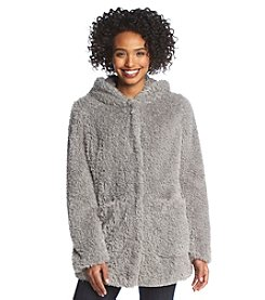 Kenneth Cole® Hooded Faux Fur Coat