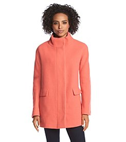 Calvin Klein Stand Collar Button-Up Coat