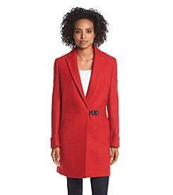 Calvin Klein Notch Collar Clip Coat