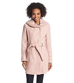 Calvin Klein Asymmetric Belted Walker Coat