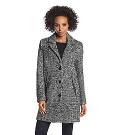 Calvin Klein Notch Collar Button-Up Coat