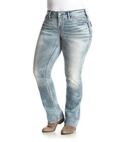 Silver Jeans Co. Plus Size Suki Super Stretch Slim Boot-Cut Jeans