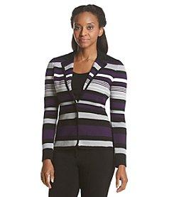 Calvin Klein Petites' Variegated Stripe Blazer