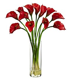 Nearly Natural® Mini Calla Lily Silk Flower Arrangement