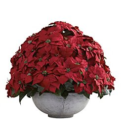 Nearly Natural® Giant Poinsettia Arrangement with Decorative Planter