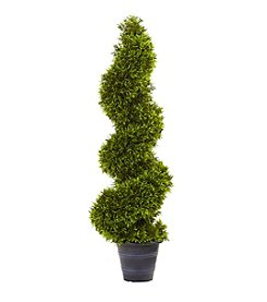 Nearly Natural® Grass Spiral Topiary with Decorative Planter