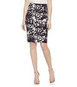 Vince Camuto® Floral Print Scuba Skirt