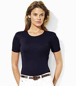 Lauren Ralph Lauren® Cotton Crew Neck Tee