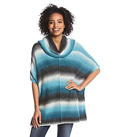 G.H. Bass & Co. Ombre Stripe Poncho Sweater