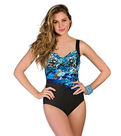 Miraclesuit® Blue Attitude Escape One-Piece