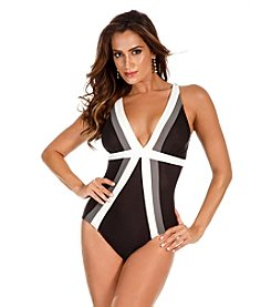 Miraclesuit® Trilogy Color Block Tank One-Piece