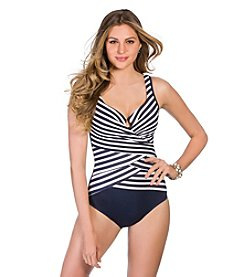 Miraclesuit® Layed Stripe Escape Tank One-Piece