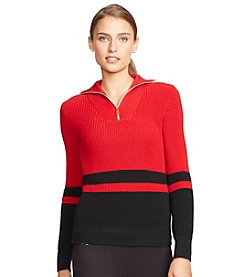 Lauren Active® Striped Mockneck Pullover
