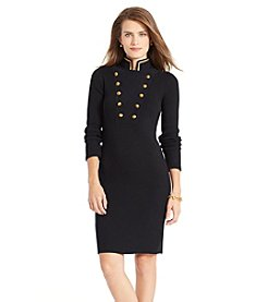 Lauren Jeans Co.® Military Cotton Sweater Dress