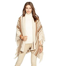 Lauren Jeans Co.® Cotton-Wool Fringed Poncho