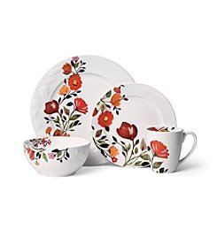 Gourmet Basics by Mikasa Tulips  16-Pc. Porcelain Kim Parker Dinnerware Set