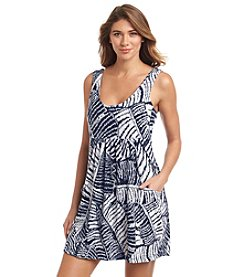 J. Valdi® Printed Scoop Neck Cover-Up
