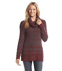Ruff Hewn Printed Cowlneck Tunic Sweater