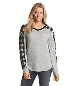 Ruff Hewn Plaid Blocked Pullover