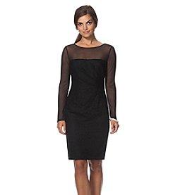 Chaps® Lace Mesh Dress