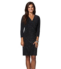 Chaps® Metallic Surplice Dress