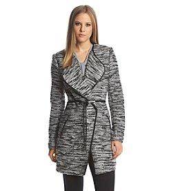 Calvin Klein Boucle Tie-Waist Jacket