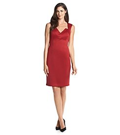 Connected® Lace Back Sheath Dress