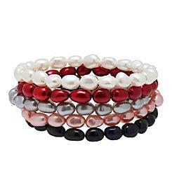 Honora Style® Pearl Bracelet Set