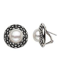 Honora Style® Pearl Earrings in Sterling Silver