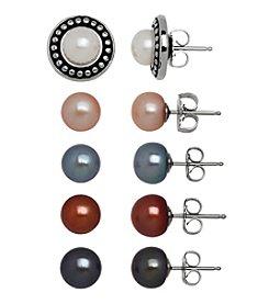 Honora Style® Pearl Stud Earrings Set in Sterling Silver