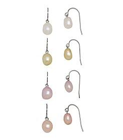 Honora Style® Pearl Earrings Set