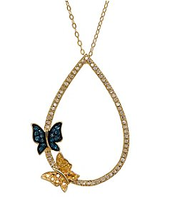 Fine Jewelry .20 ct. t.w. Diamond Pendant Necklace in 14k Yellow Gold
