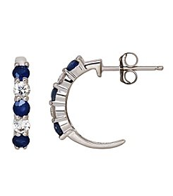 Fine Jewelry Sapphire Earrings in 10k White Gold